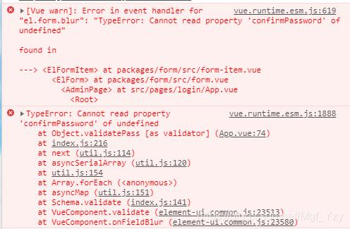 """TypeError: Cannot read property 'confirmPassword' of undefined"""