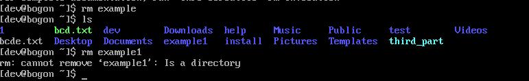 rm可删除example文件,rm单独不能删除文件夹