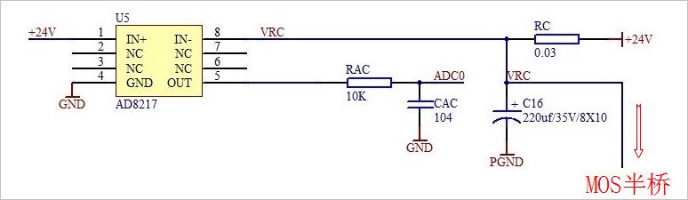 ▲ 功率半桥电流信号