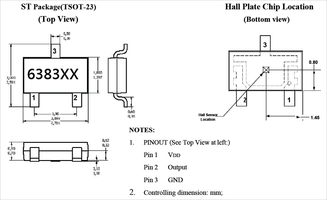 ▲ HX6383的管脚定义