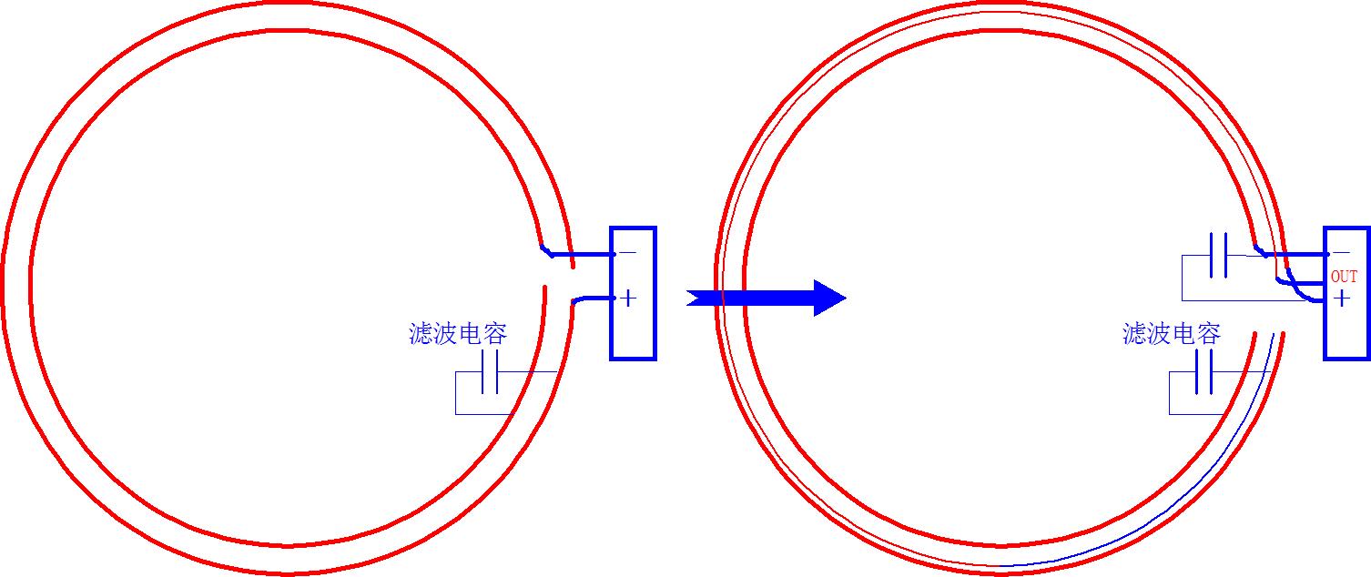 ▲ 修改连接拓扑,左:之前连接;右:修改后连接