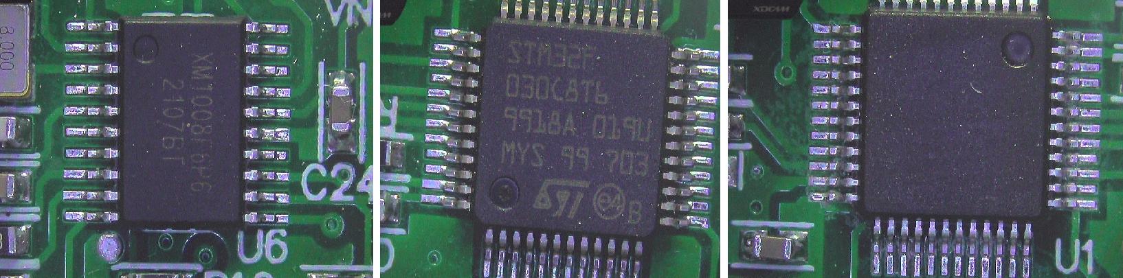▲ 电路板上的MCU