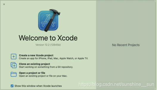 Xcode运行首页