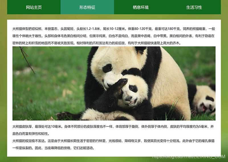保护动物网页模板