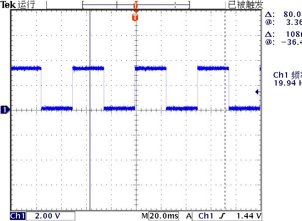 ▲ 测量GPIO0的波形