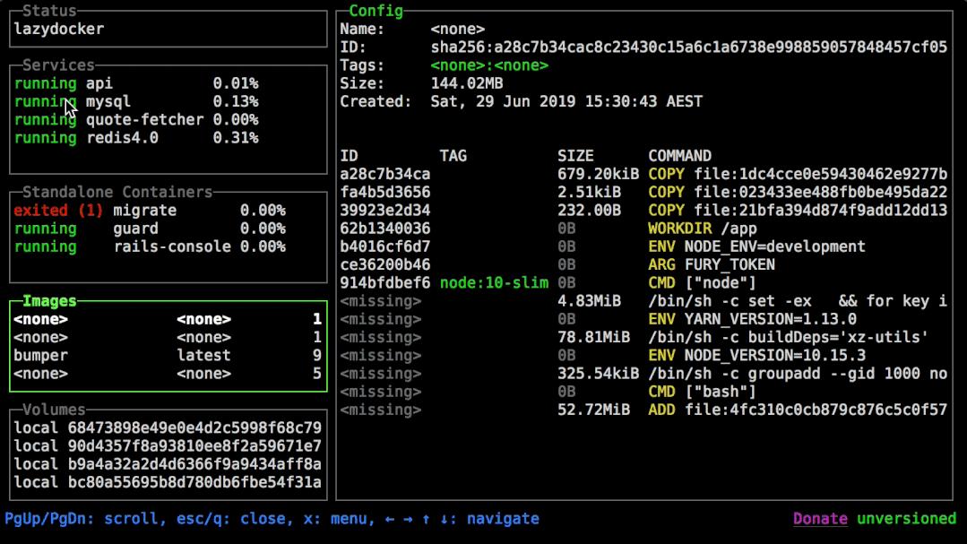 Docker 服务终端 UI 管理工具插图(1)