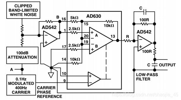 AD630组成的锁定放大器