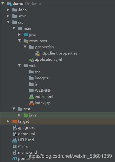SpringBoot、Maven、JavaWeb工程目录文件结构