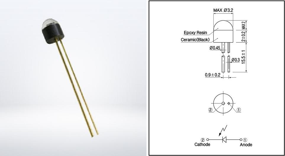 ▲ SP-1CL3 外形与尺寸
