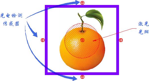 ▲ 光电检测传感器的位置分布