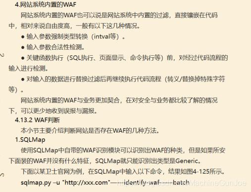 WAF built into the website system