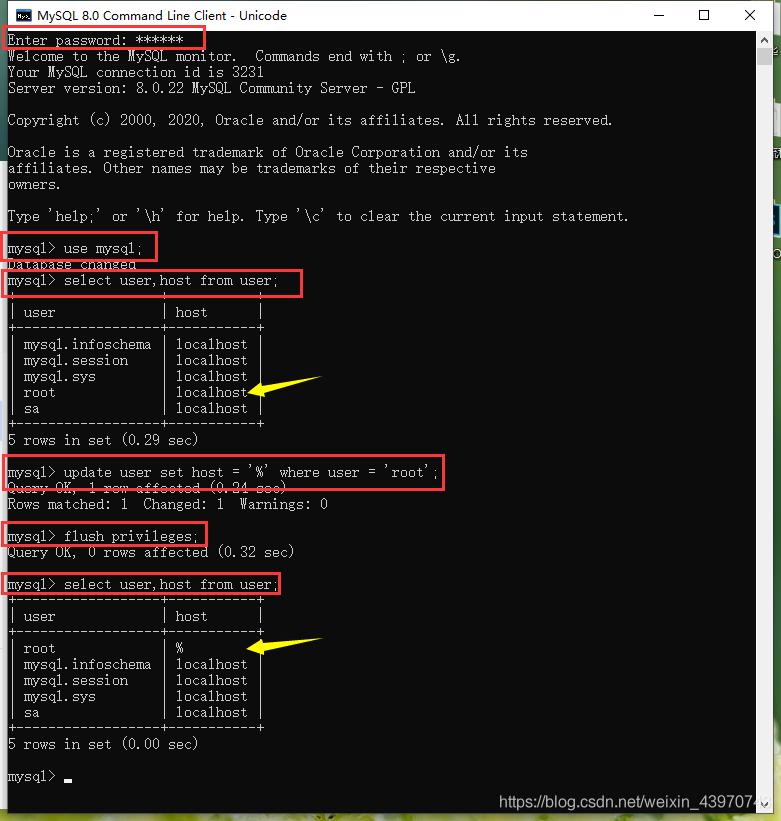 """记录:java.sql.SQLException: null,  message from server: """"Host 'DESKTOP-RGKNGKO' 解决方案"""