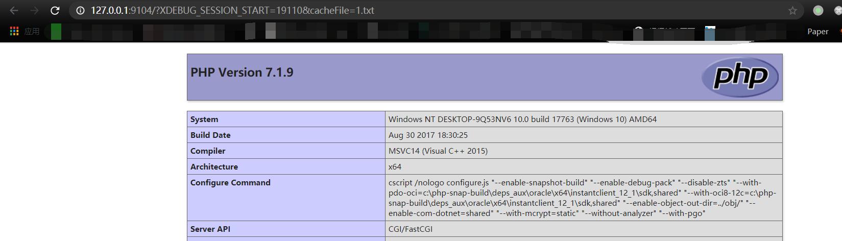 ThinkPHP5变量覆盖导致的文件包含漏洞
