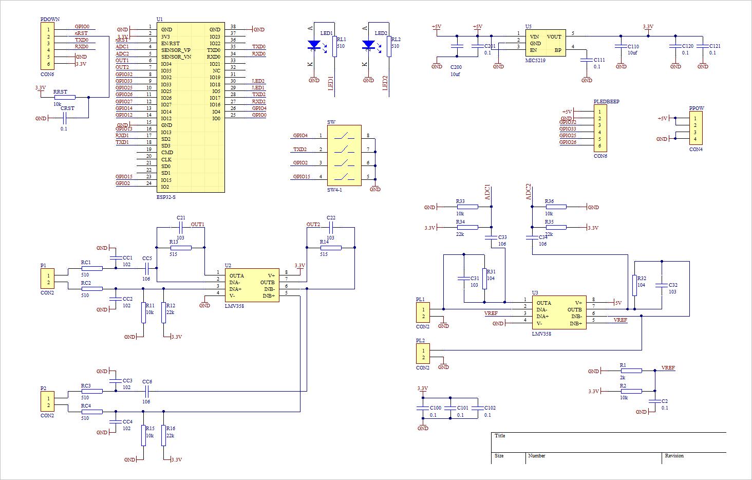 ▲ 电路原理图整体设计