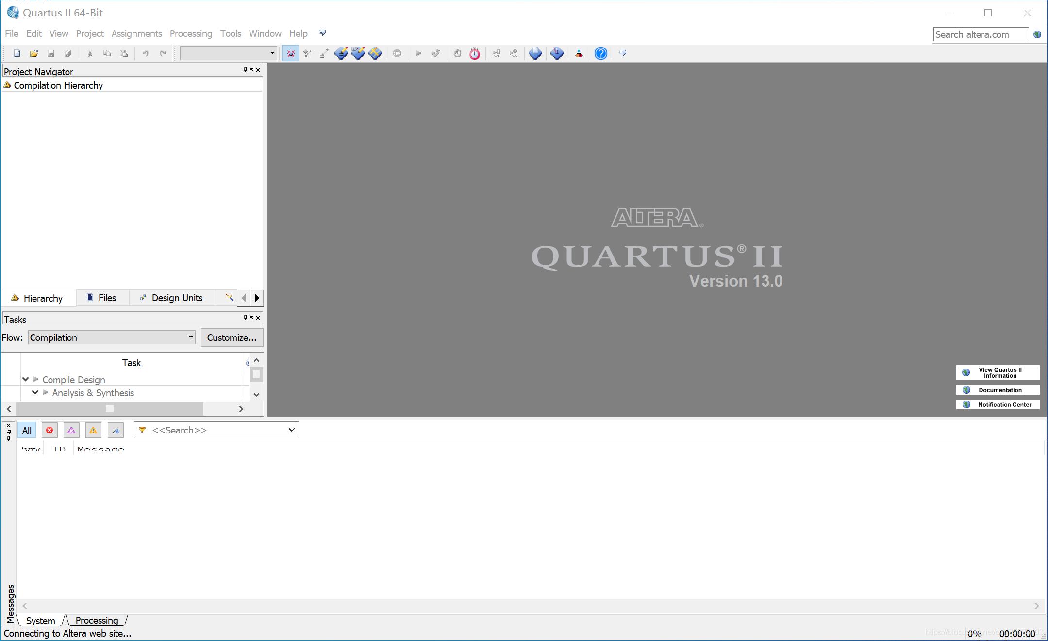 打开Quartus II