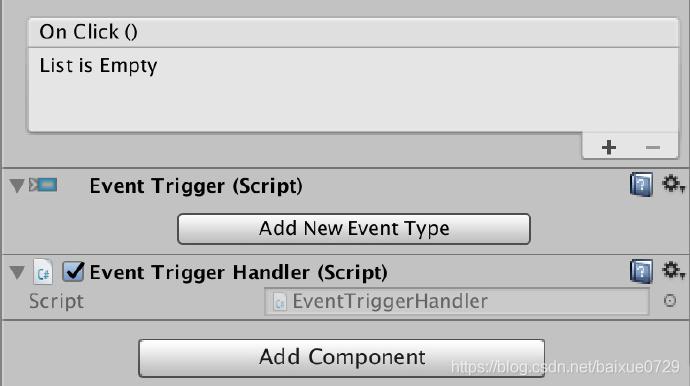 通过 EventTrigger 实现按钮点击事件