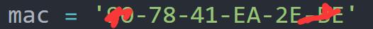 mac = '90-78-41-EA-2E-BE'