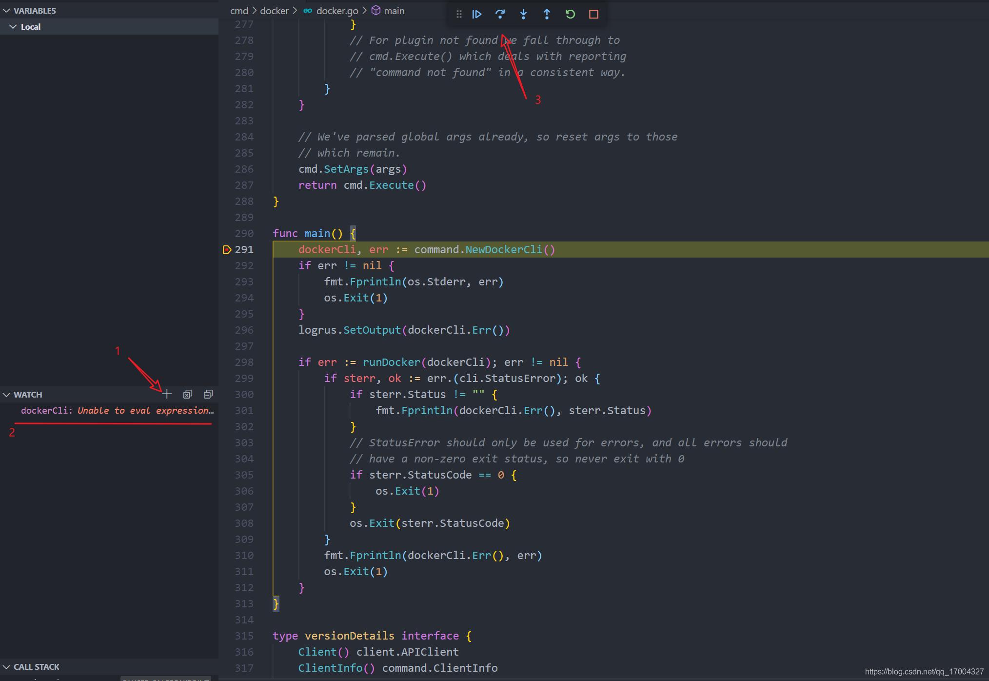 docker/cli 设置观察变量