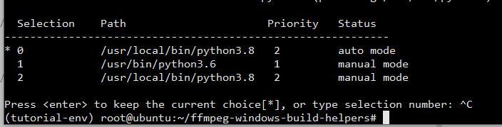 当前使用python3.8