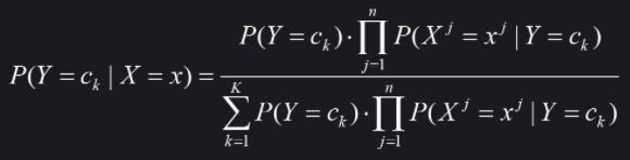 朴素贝叶斯公式