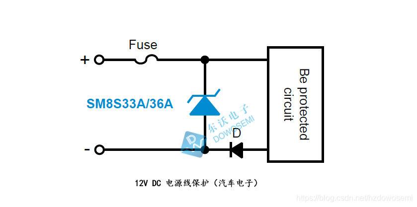 12V DC电源线保护(汽车电子)