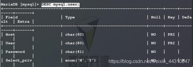 mysql数据库的基本管理详解(增删改查)