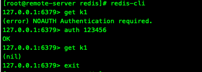 A password is required to connect to Redis
