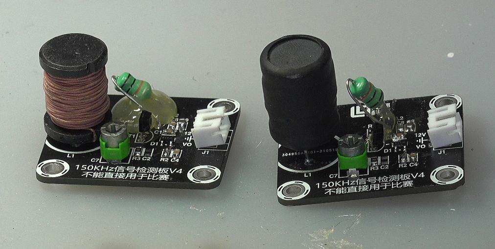 ▲ 图2-2 对比测试两种工字型电感接收效果