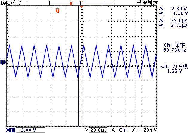 ▲ 图2-4 电路输出的自激振荡波形