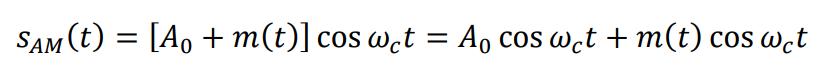 AM信号时域表达式