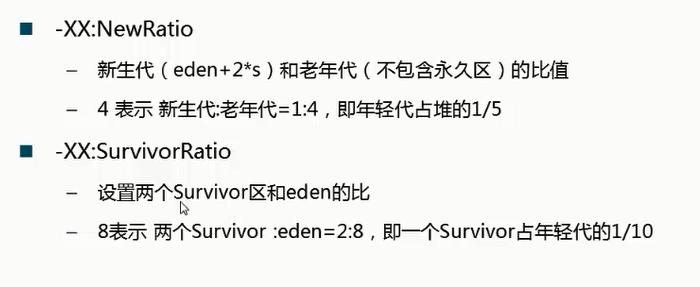 NewRatio SurvivorRatio