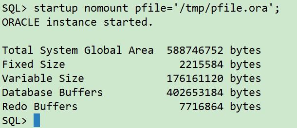 startup nomount