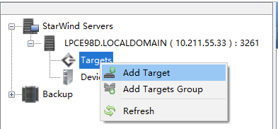 新建Target