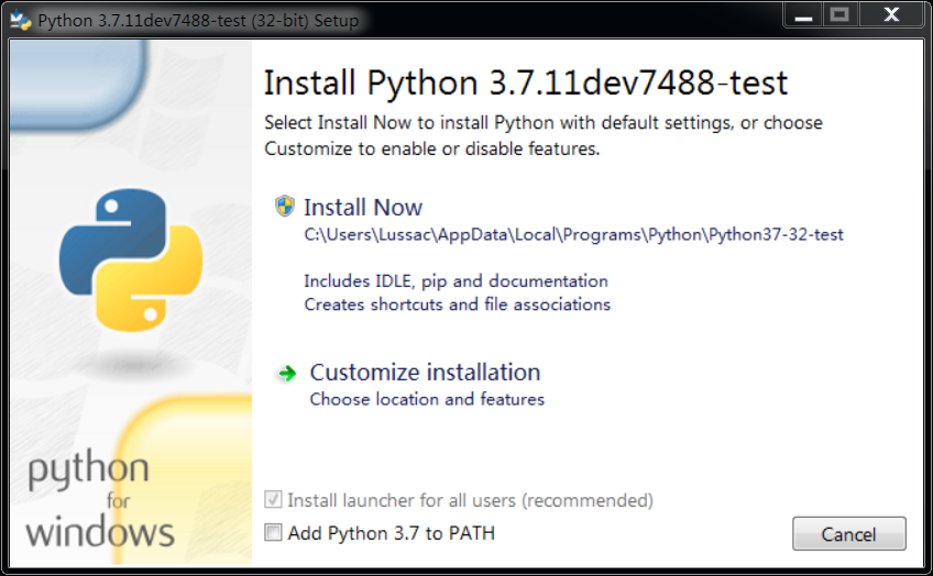 python-installer-msi