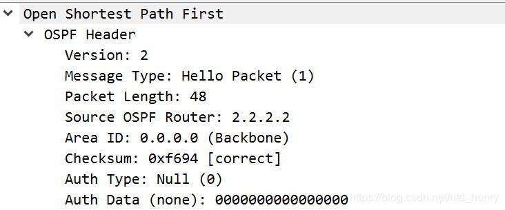 OSPF头部信息