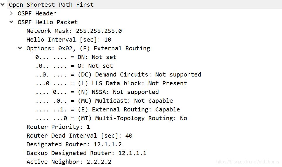 OSPF broadcast 报文
