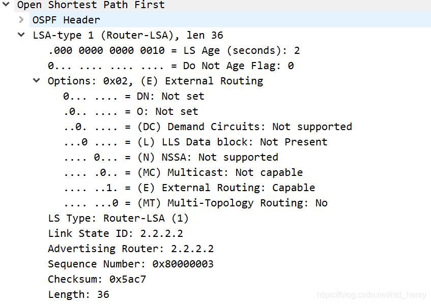 OSPF LSAck报文