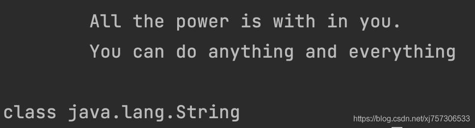 带换行的String