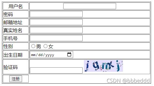 javaweb基础 day2 表单标签