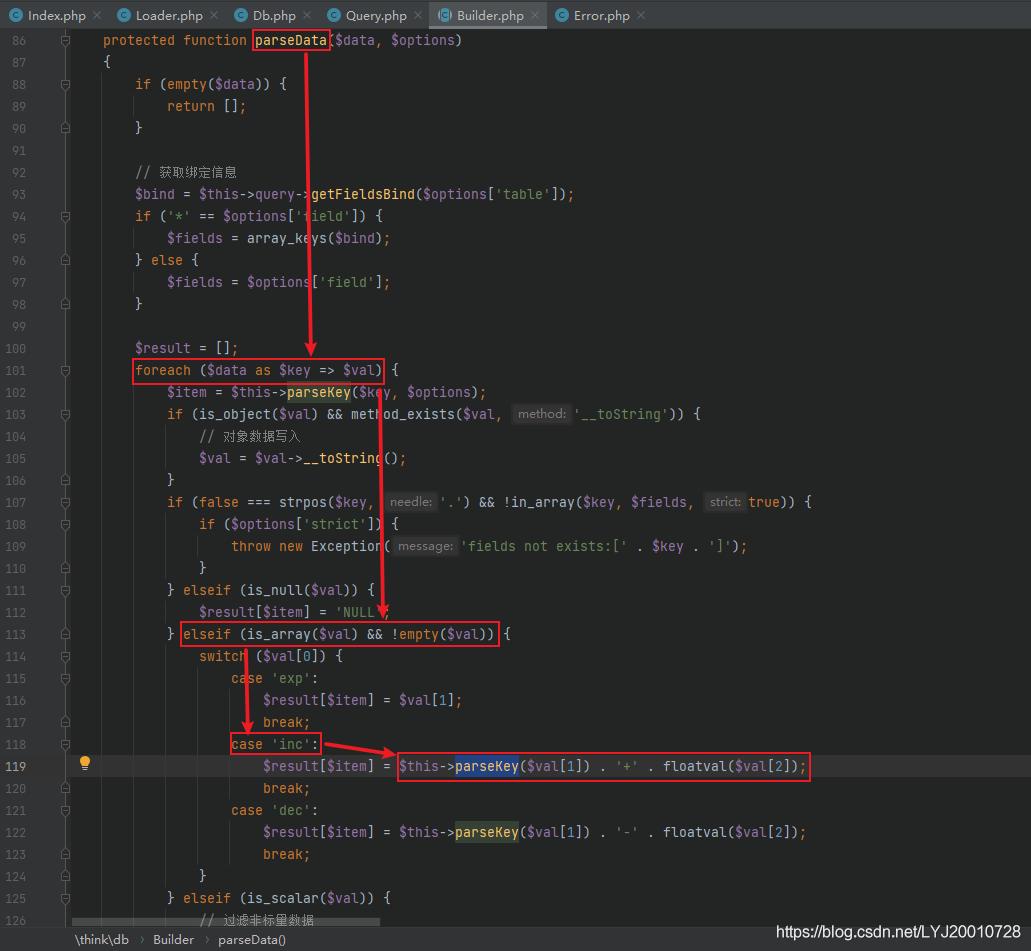 ThinkPHP5.0.x SQL注⼊