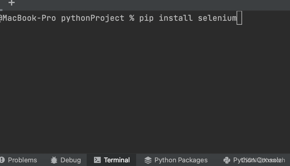 在python开发工具pycharm的Terminal模块下,输入下载命令pip install selenium即可下载selenium模块