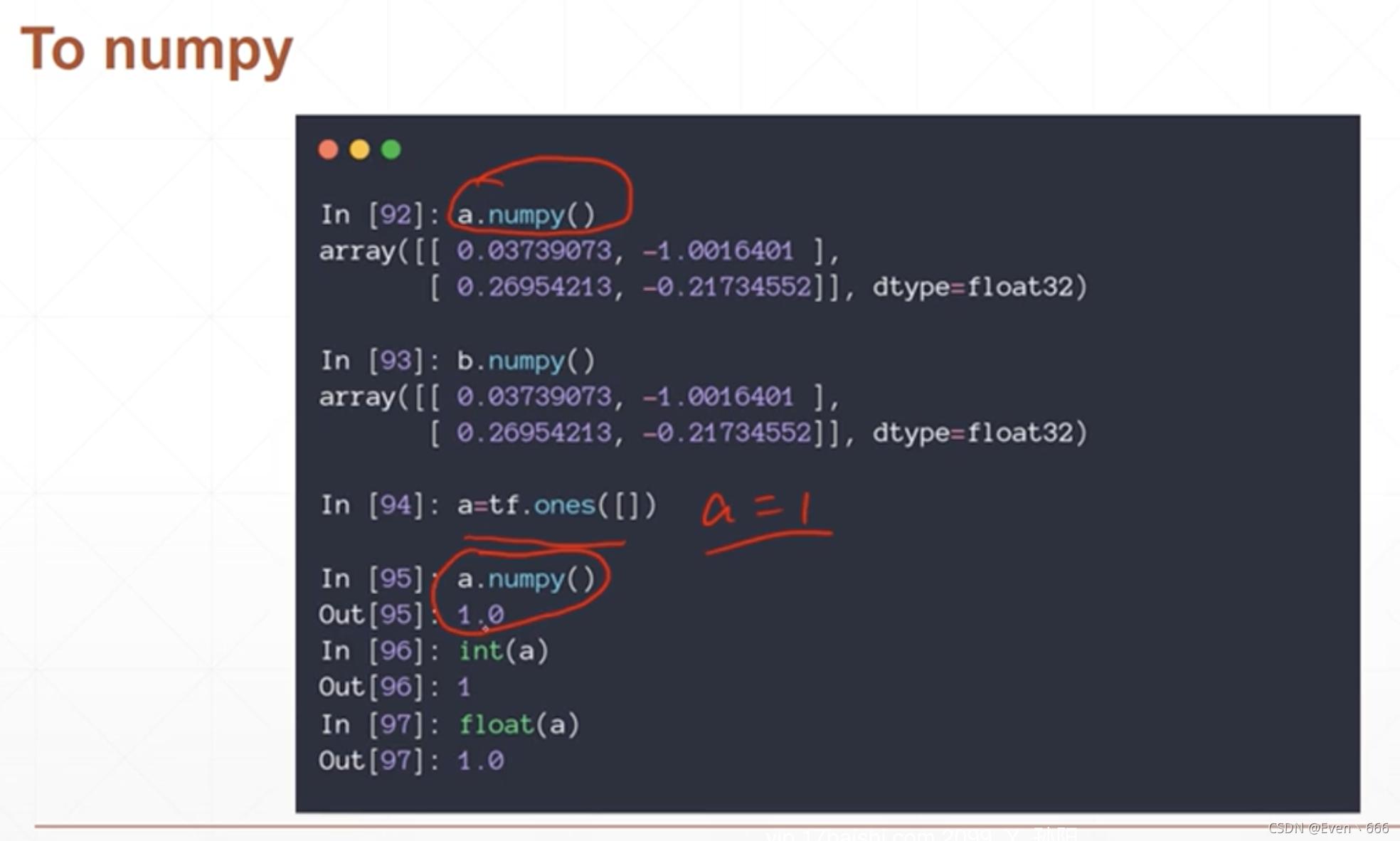 【一】tensorflow数据类型