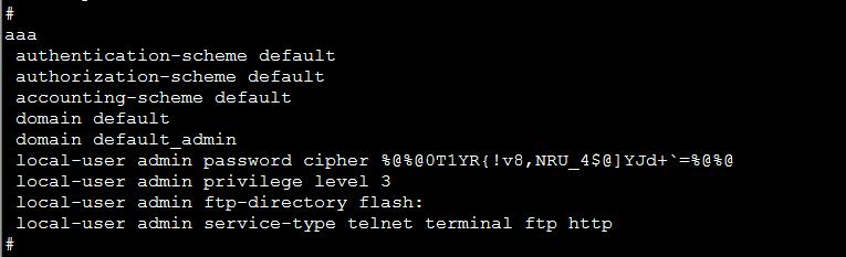 华为交换机配置Telnet远程;华为交换机Telnet