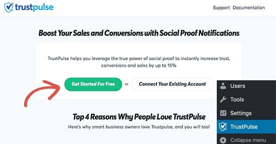 Connect TrustPulse