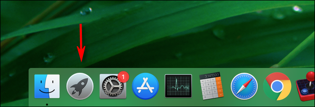 Click Launchpad in your Mac's dock to launch it.