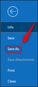"Click ""Save As."""