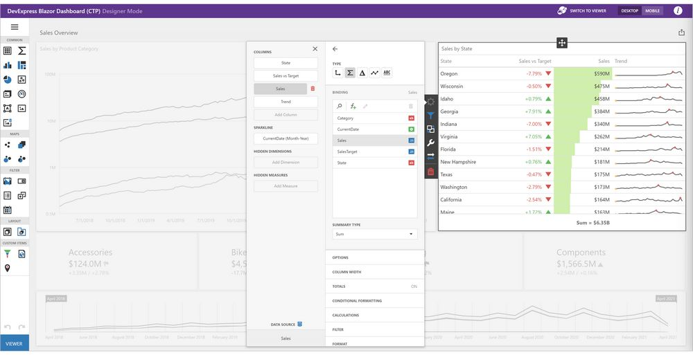 DevExpress Dashboard控件v21.1新版图集