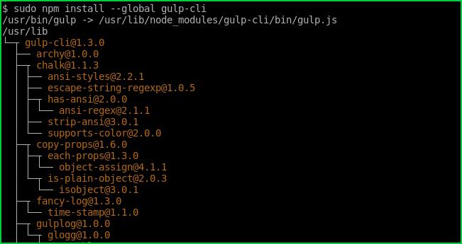 Install Gulp with Npm