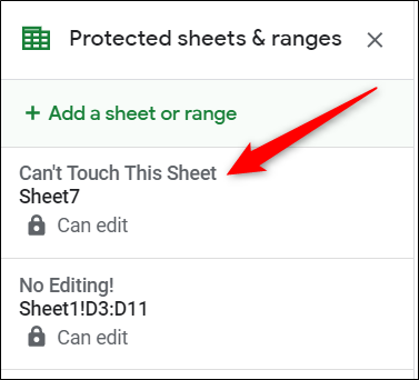Select the sheet's permission rule you just created