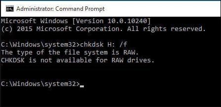 文件系统类型是RAW